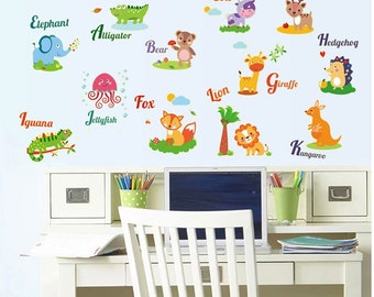 Glow in The Dark Animal Wall Stickers - AW9613