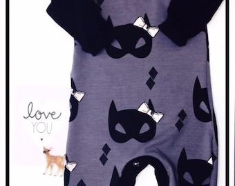 Jumpsuit Cat grey organic jersey