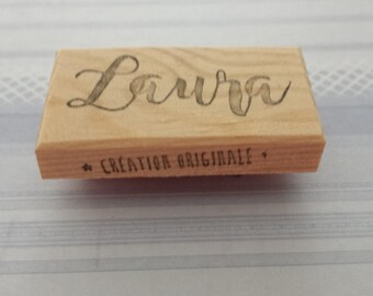 Tampon prénom sur-mesure / rubberstamp name customized