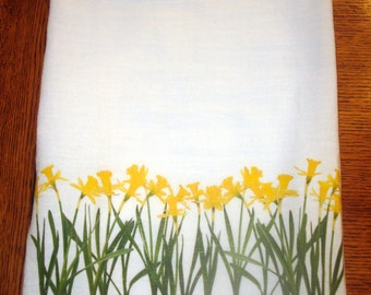 Flour Sack Kitchen Towel, Daffodils