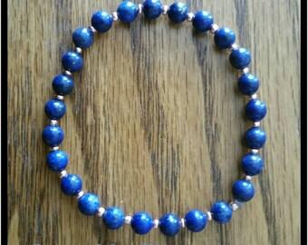 Lapis Lazuli & Copper Bracelet