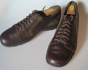 Mens Brown & Khaki Casual Oxfords Size 12 M / 46