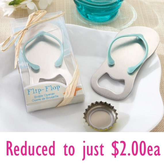 gift boxed flip flop thong beach metal bottle opener wedding. Black Bedroom Furniture Sets. Home Design Ideas