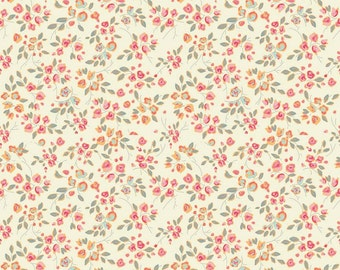 Chatsworth Bloom FLANNEL Fabric in Cream by Emily Taylor for Riley Blake
