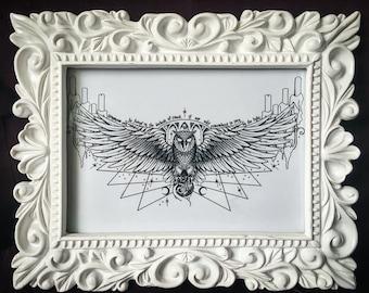 Owl Podium Print
