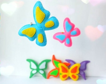 butterfly ornament, valentine ornaments, butterfly decor, felt butterfly, butterfly decoration, butterfly magnet, butterfly brooch