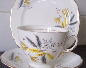 Colclough China Stardust Trio - Cup Saucer & Tea Plate 6791
