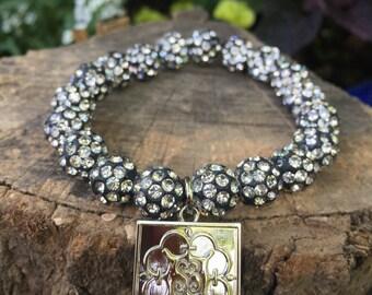 Dark white Elise bracelet
