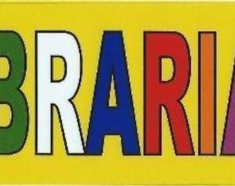10''x3'' Librarian Bumper Sticker Window Car Decal Stickers Vinyl Truck Decals(b-10-18)