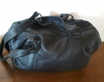 bag black vintage lambskin very flexible in very good condition