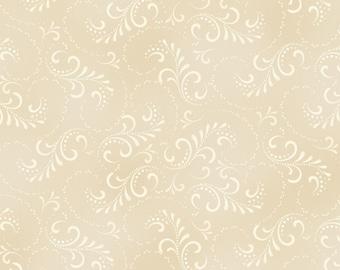 Welcome Home - Swirl Cream (8366-E) by Maywood Studio Cotton Fabric Yardage