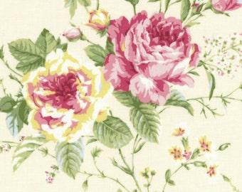 Large Roses Dark Cream 31360-10 by Lecien Cotton Fabric Yardage