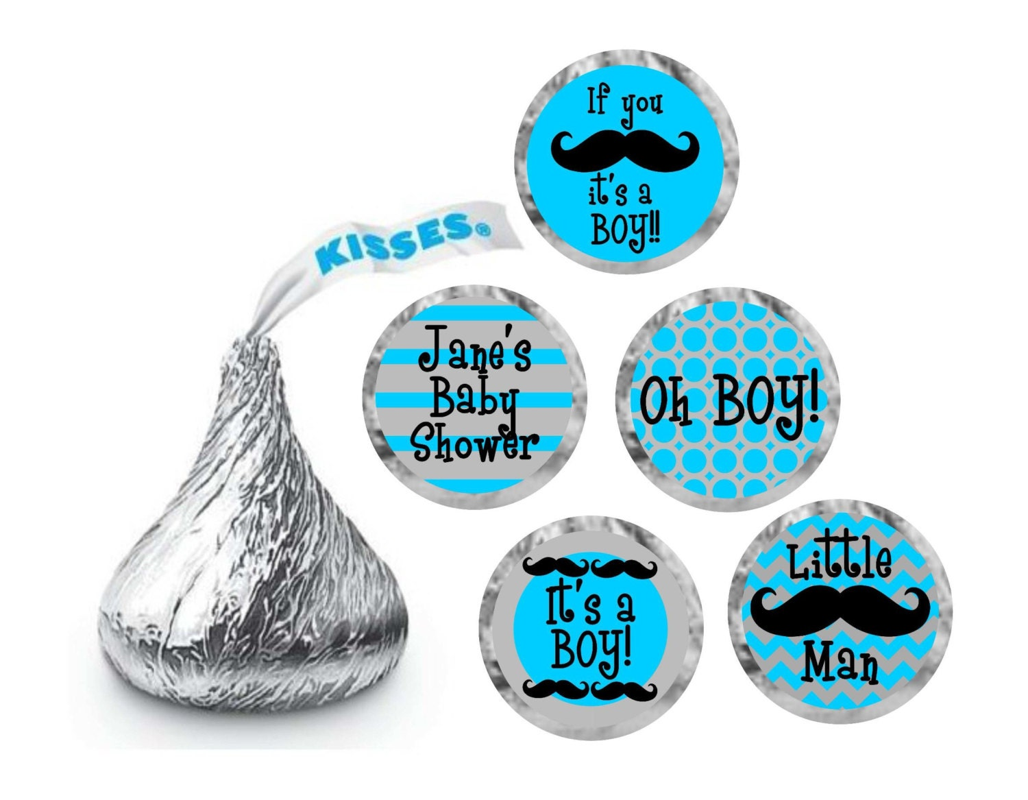 Hershey Kisses Personalized Labels / Hershey Kiss Stickers