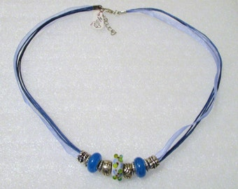 902 - Blue Beaded Necklace