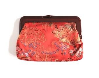 Vintage Red Asian Clutch Bag