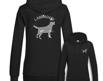 Ladies Hoodie Strass Labrador
