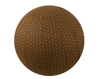 65cm Yoga Ball Cover. balance ball cover, exercise ball cover, fitness ball cover, physio ball cover - Chocolate Geometric Print