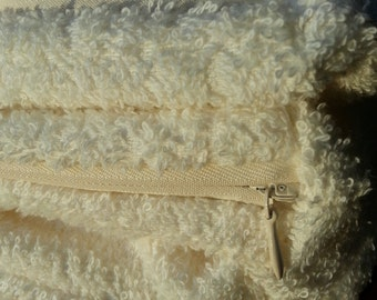 Absorbent Terry Cloth Standard Size Pillow Case - Ivory