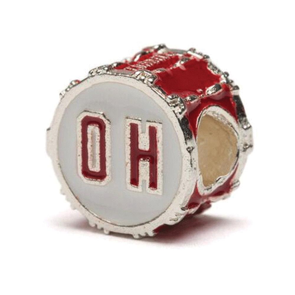 Red Ohio State Oh Bead Charm Fits Pandora