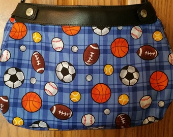 PS 007 Sports Design Suite Skirt COVER ONLY for the 31 Suite Skirt Purse Handmade