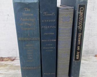 Vintage Lot Navy Blue Books  Dark Decorative Titles, Decline and Fall