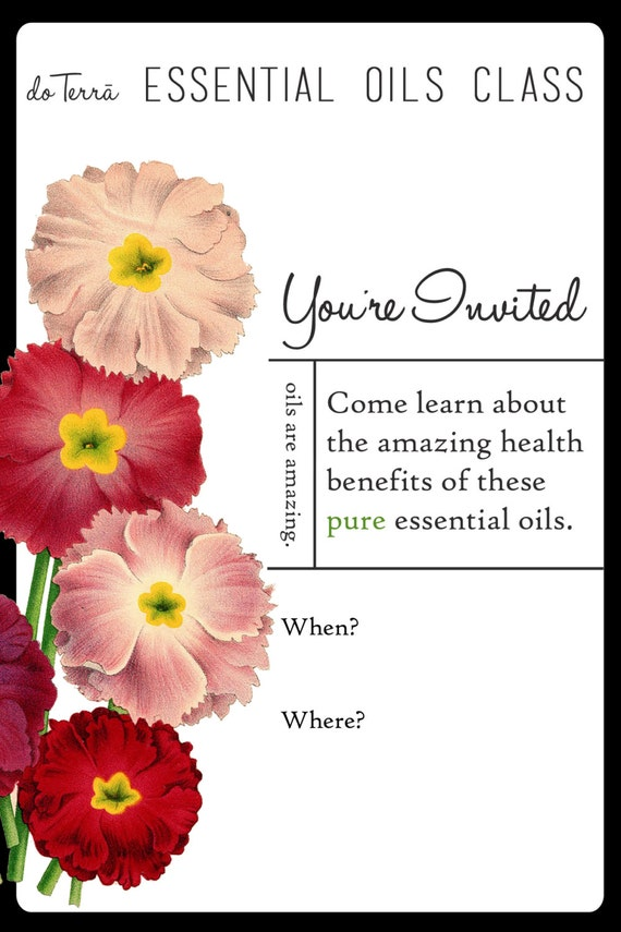 Doterra Class Invite with great invitations example