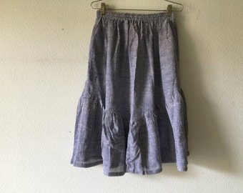 FREE SHIPPING - Vintage 70s India Cotton Gauze Skirt Boho Hippie