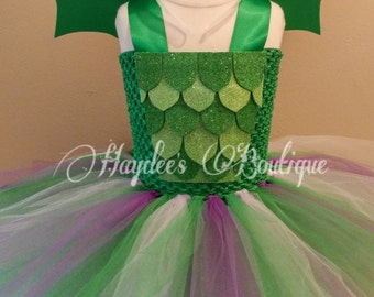 Green Dragon Tutu Dress Set