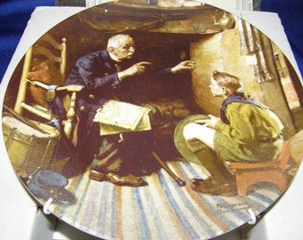 Norman Rockwell Heritage Collectible Plate, The Veteran