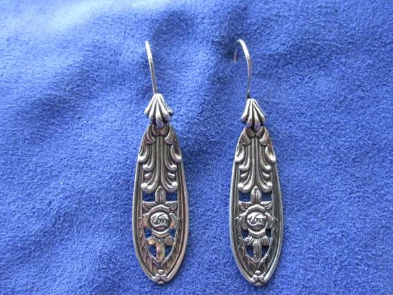 Sweet swedish spoon jewelry earringssilverware - Handmade gs silverware ...