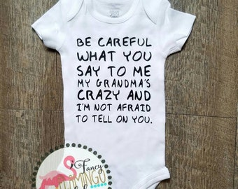 Crazy Grandparent Onesie Baby Toddler Boy Girl Nana Papa Pop Pop Grandpa Grandma MeMe GiGi YaYa