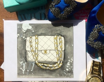 Quiled Chanel Bag Painting