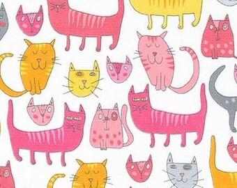 Doodle Pop - Cats Pink - Andie Hanna - Robert Kaufman (AHE-15929-10)