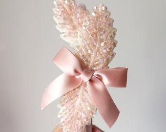 Pink Laurel Beaded Headband - Wedding headband - Party headband - Beaded headband - Womens headband - Beaded headband - Hair accessories