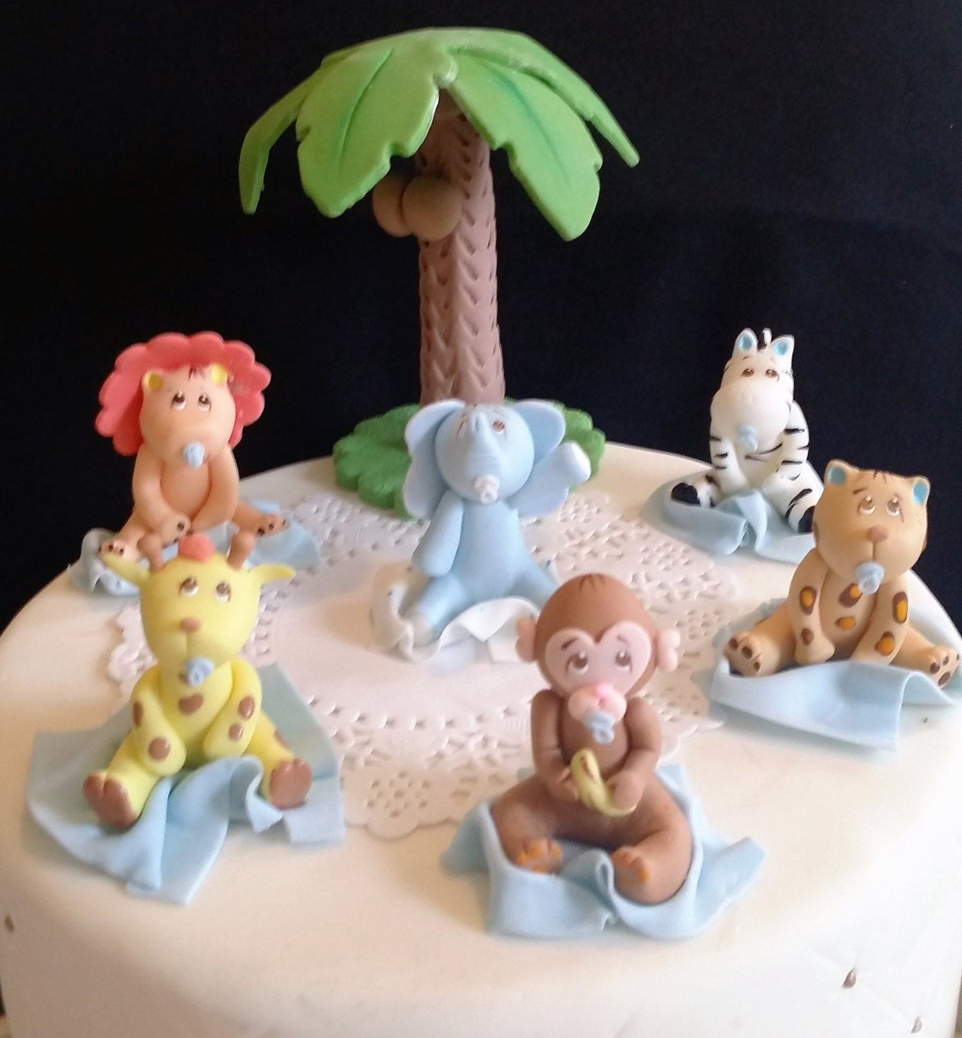 Jungle Cake Toppers Jungle Baby Shower Safari Baby Shower