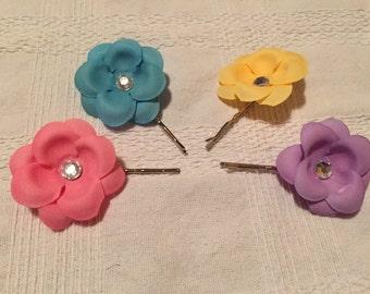 Pastel Hydrangea Hair Pins