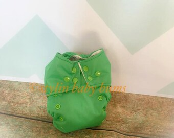 Solid green all in one (AIO) cloth diaper- FREE SHIPPING