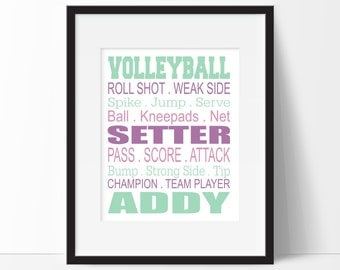 volleyball gifts volleyball bedroom decor girl sports decor teen room childrens room. beautiful ideas. Home Design Ideas