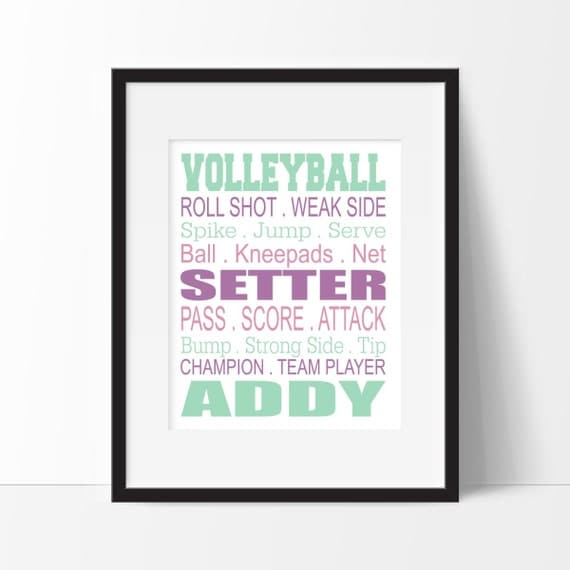 Volleyball Gifts Volleyball Bedroom Decor Girl Sports Decor Teen