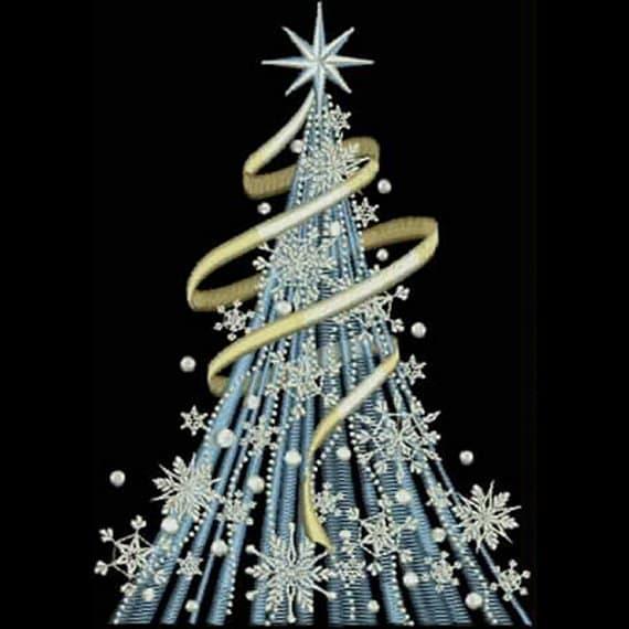 RIBBON SWIRL CHRISTMAS Tree Machine By StitchesbyEileen On