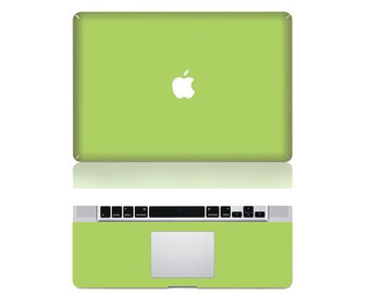 "Macbook Lime Green Front & Wrist Sticker Vinyl Decal Cover For Macbook Pro 13"" Comes with free keyboard cover and gift"