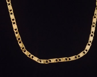 Sterling Silver Scroll Chain Necklace  (19.5)
