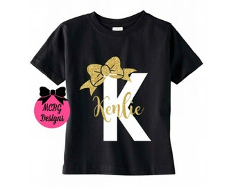 Monogram shirt or baby bodysuit,personalized baby outfit,personalized toddler shirt,bows,initial shirt,baby girl shirt,baby outfit