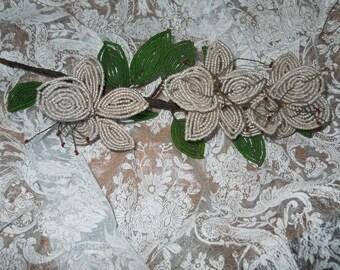 Victorian Glass Bead Flowers.