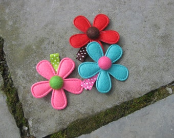 colored Hair clips for girls and Moms