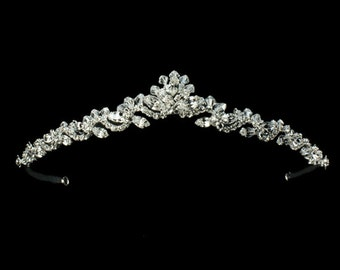 Bridal Wedding Tiara ,Crystal  Rhinestone Bridal Tiara - Bridal Headpiece - Bridal Headband