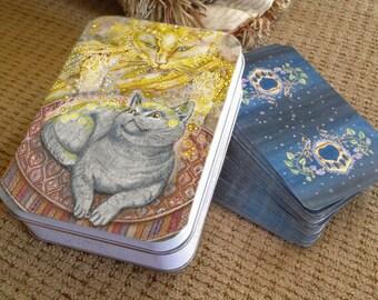 Tarot Tin, Good Kitty (Judgement)  Card from Mystical Cats Tarot