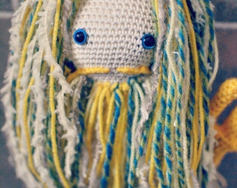 Merman crochet doll mermaid mythical