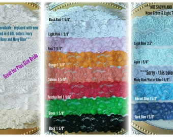 Lace Sample Lace Swatch Garter Sample Garter Swatch Stretch Lace Swatch Lace Fabric Sample Lace Sample Pack Up to 4 samples for one price!