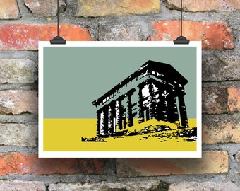 Giclee Print of Penshaw Monument. Architectural Print. Landscape. Sunderland.